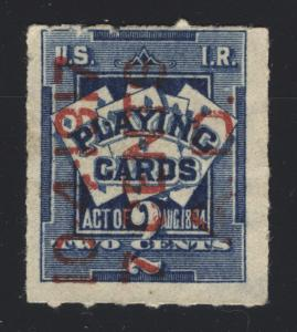 RF9 2c Blue 1894 Playing Card 7c Surcharge Reading Up Scarce