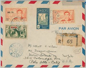 45114 - AOF NIGER -  POSTAL HISTORY: REGISTERED COVER from Birni-N'Konni 1948