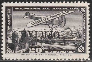 MEXICO CO11b, OFFICIAL AIR MAIL, INVERTED OVERPRINT. MINT, NH. F-VF.
