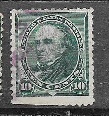 US# 226 10c Webster green (U)  CV $5.00