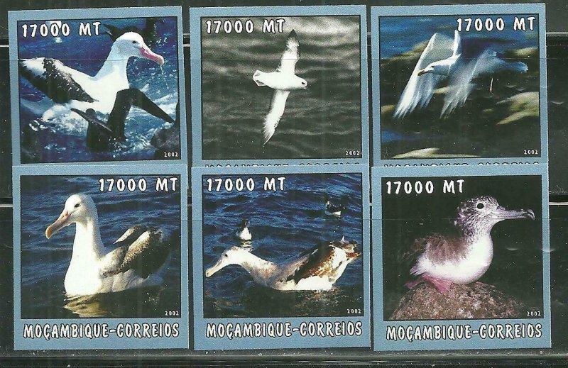 Mozambique MNH 1663A-F Sea Birds 2002 SCV 9.50