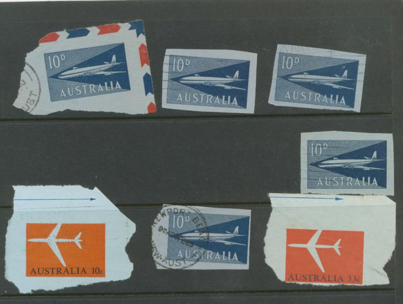 Australia 7 airmail prefrank from air letters
