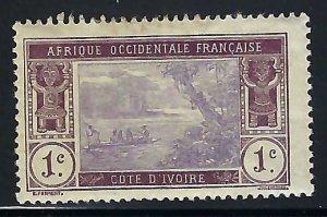 Ivory Coast 42 MOG THIN FAULTS 1061G-2
