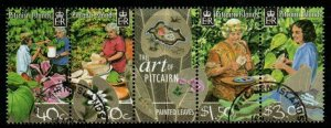 PITCAIRN ISLANDS SG647a 2003 PAINTED LEAVES  FINE USED