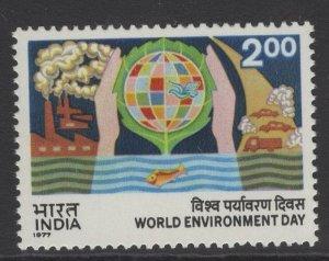 INDIA SG848 1977 WORLD ENVIRONMENT DAY MNH