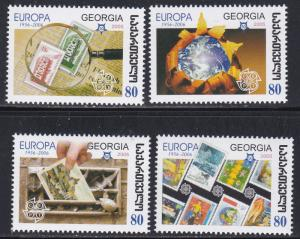 Georgia # 390-393 & 394-397, Europa, Stamp on Stamp, NH, 1/2 Cat.