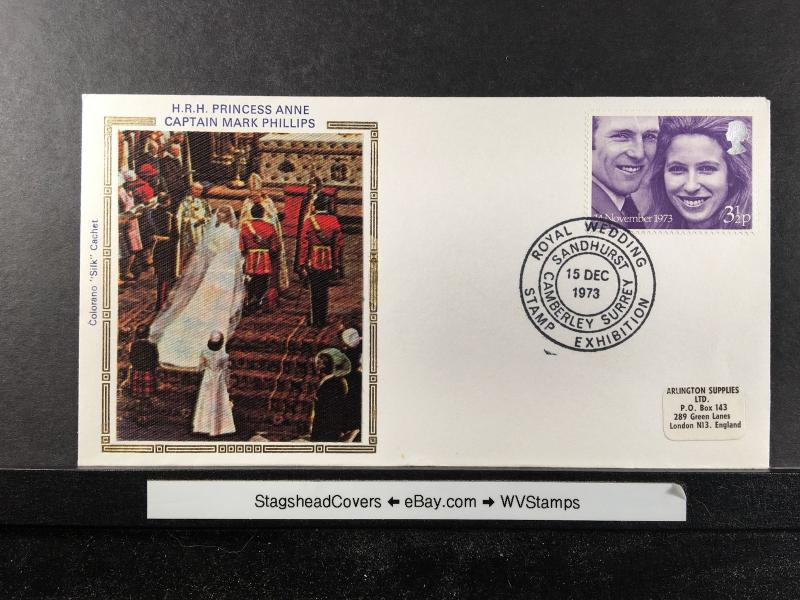 Montserrat FDC 14 Nov 1973 Royal Wedding Anne & Mark Phillips
