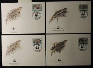 cape verde 1986 WWF reptiles lizards geckos and skinks FDC superb used