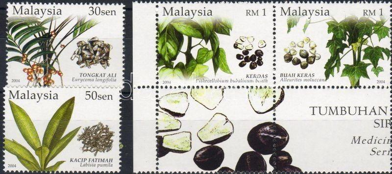 Malaysia stamp Herbs set (corner pair with coupon in that) MNH 2004 WS7177
