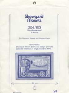SHOWGARD BLACK MOUNTS 204/153 (5) RETAIL PRICE $11.25