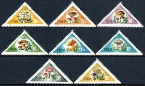 Poland 842-849, CTO. Various Mushrooms, 1959