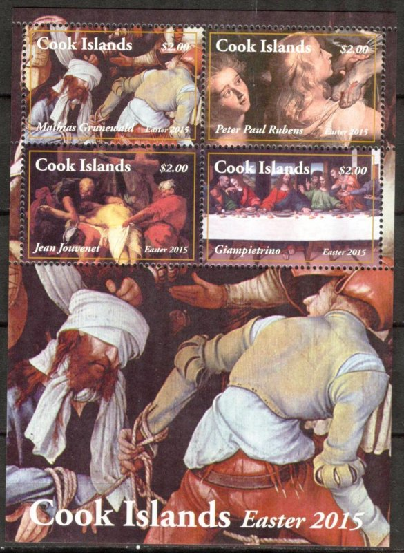 Cook Islands MNH S/S 1528 Easter Paintings 2015