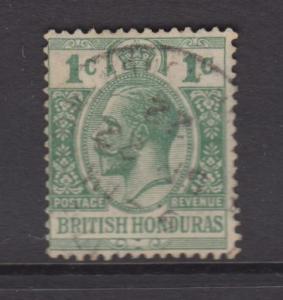 British Honduras-Scott 91- Definitive Issue -1921 -FU - Single 1c Stamp