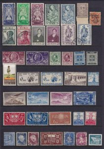 IRELAND INTERESTING MINT AMD USED COLLECTION ON STOCK PAGES - W836