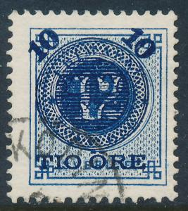 Sweden Scott 50 (Fa 50), 10/12ö blue Provisional, F+ Used