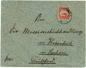 German East Africa 1906 Langeburg cancel on cover to Germany