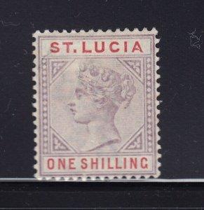 St Lucia Scott # 37a VF OG mint light hinged nice color scv $ 150 ! see pic !