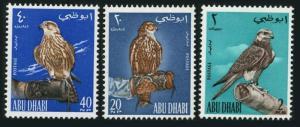 Abu Dhabi 12-14,MNH.Michel 12-14. Falcon perched on wrist,1965.