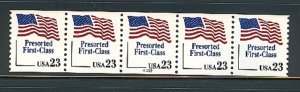 USA PNC SC# 2605 FLAG  $0.23c.PRESORTED FIRST CLASS PL# A222 WIDE W. A. PNC5 MNH