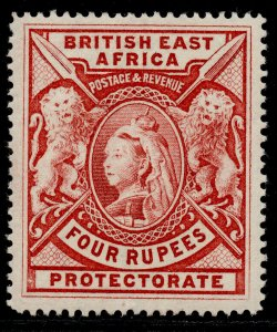 BRITISH EAST AFRICA QV SG95, 4r carmine, M MINT. Cat £500.