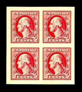 momen: US Stamps #532 Block of 4 Mint OG XF