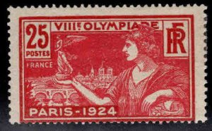 France Scott 199 MH* 1923 Olympic stamp hinge remnant nice color