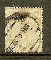 Great Britain, Scott #107, 1sh Queen Victoria, Fine, Used