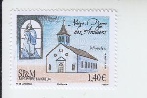 2016 St Pierre & Miquelon Church Ardilliers (Scott 1031) MNH