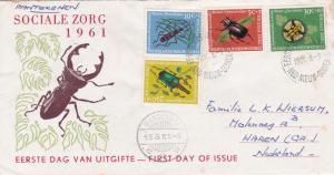 Netherlands New Guinea 1961 Beetles Special Welfare Fund FDC Manokwari CDS VGC