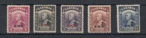 Sarawak 1946 BMA Set Of 5 SG127/135 MLH J6765