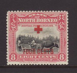 1918 North Borneo 8c + 4c Mounted Mint SG241