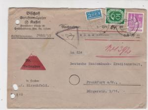 Germany 1952 HirschfeldCancel Obligatory Tax Aid for Berlin Stamps Cover Rf27340