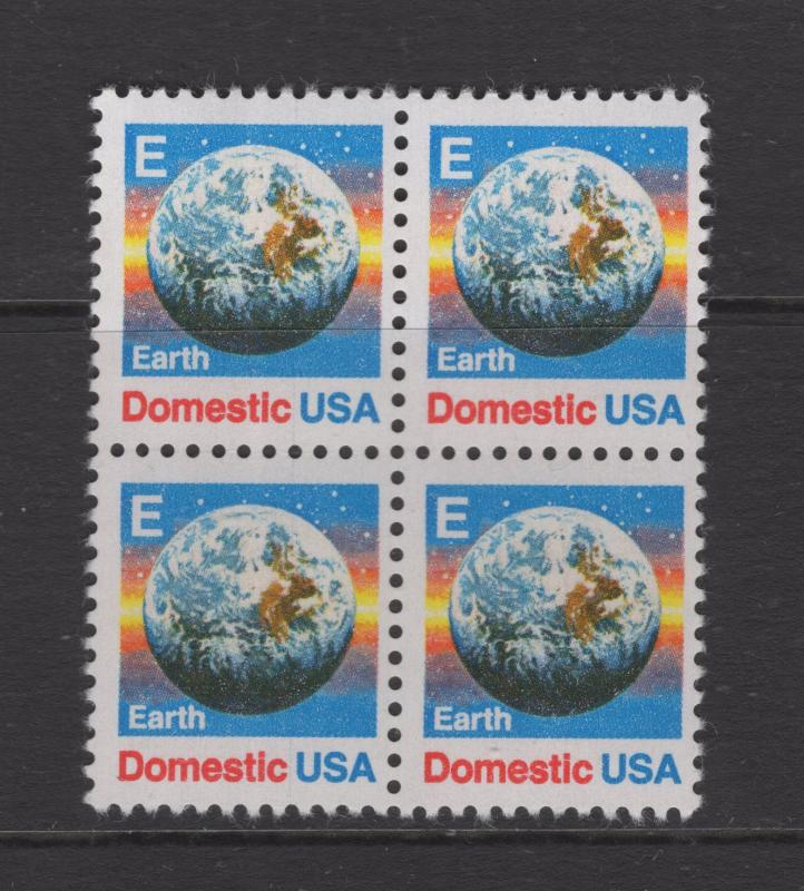 US Earth First Class Block of 4 Stamps Scott MNH