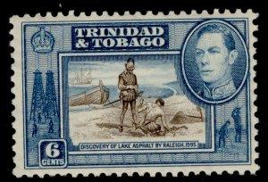 TRINIDAD & TOBAGO GVI SG250, 6c sepia & blue, M MINT.