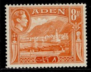 ADEN GVI SG23, 8a red-orange, NH MINT.