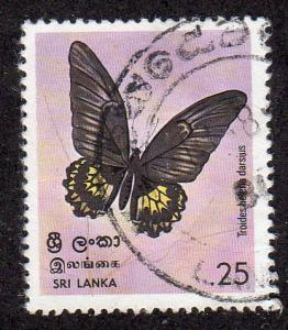Sri Lanka 534 - Used - Birdwing Butterfly