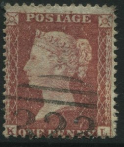 1856 1d Star KL Plate 68 SG40, showing the Major Re-Entry used  (39)