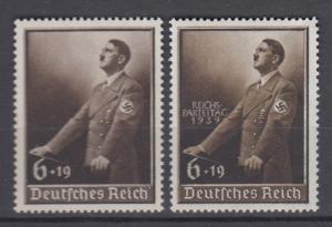 WWII Third Reich 1939   Mi 694/701 MNH