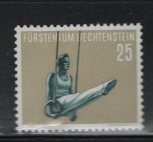 LIECHTENSTEIN 310 Hinged, 1957 Exercise on rings