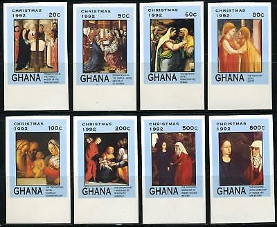 GHANA SCOTT# 1483-90 CHRISTMAS PAINTING IMPERF SET MNH