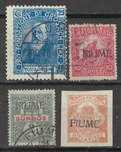 COLLECTION LOT # 5439 FIUME 4 UNG/USED STAMPS 1918+ CV+$20