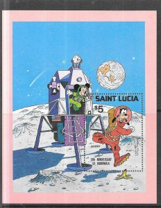 St Lucia #500  Year of the Child S/S  (MNH) CV$4.50
