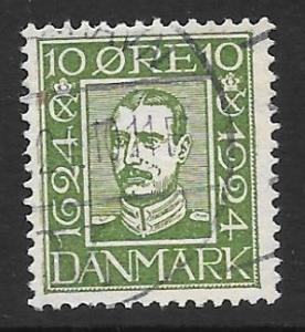 DENMARK #167 VF Used stamp Christian X 2013 CV $7.75