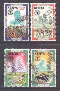 Kenya Scott 203/206 - SG216/219, 1981 World Food Day Set used
