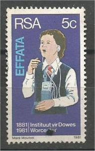 SOUTH AFRICA, 1981, used 5c, Deaf and Blind. Scott 550