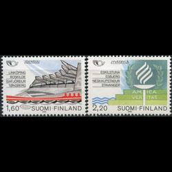 FINLAND 1986 - Scott# 738-9 Sister Towns Set of 2 NH