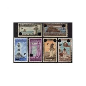 New Zealand OY37-OY42,MNH.Michel GLI 33-38. Lighthouses 1967-1968,surcharged.