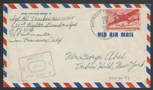 GILBERT & ELLICE IS WW2 1943 cover US Forces on Canton Island FPO 914......25811