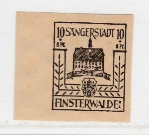 Finsterwalde WWII Germany World War II Local Stamp 1946 10+8pf MNH** A20P4F182