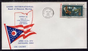 US Lions Club Board of Directors Meeting,Cleveland,OH 1970 Cover